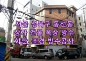 서울 성북구 동선동 상가건물 옥상 방수공사, 화단방수